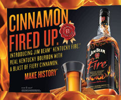 Jim Beam Kentucky Fire rectangle