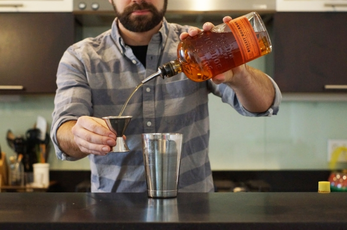 Step 3 of 5: 2 oz bourbon - Drink Philly - The Best Happy ...