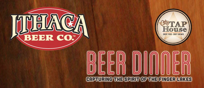 Ithaca Beer Dinner at City Tap House, Jan 13