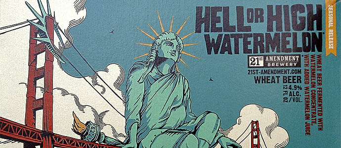 Beer Review: 21st Amendment Hell or High Watermelon