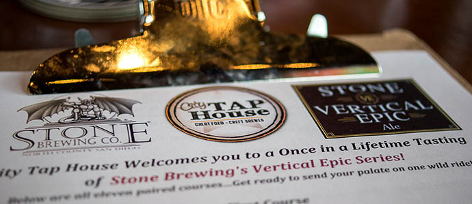 Stone Vertical Epic at City Tap House: A Belgian Beer Journey With a Charitable Finish [PHOTOS]