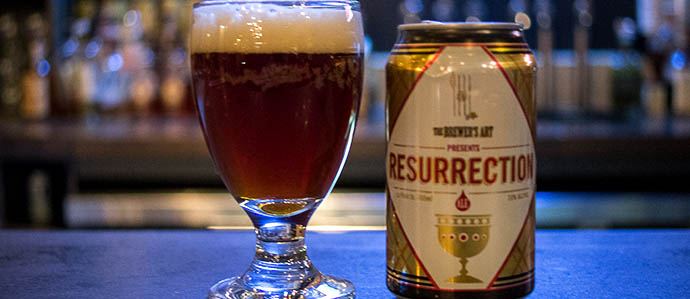 Super Bowl Beer Review: Brewer's Art Resurrection Ale vs. 21st Amendment Monk's Blood