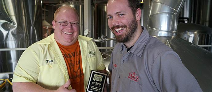 Yards: 2013 Drinker's Choice Award Winner, Best Local Brewery