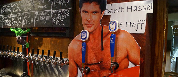 Drink From the Hoff's Nipples at Bierstube
