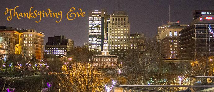 Where to Celebrate Thanksgiving Eve in Philadelphia