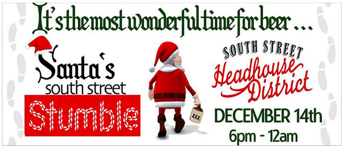Stumble With Santa Through the South Street Headhouse District