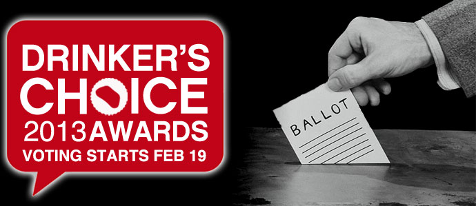 Annual Drinker's Choice Awards Start February 19