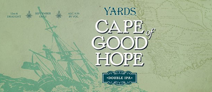 Yards Releases Its Seasonal Double IPA, Cape of Good Hope