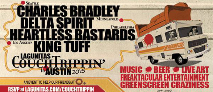 Go CouchTrippin' with Lagunitas, Feb. 21