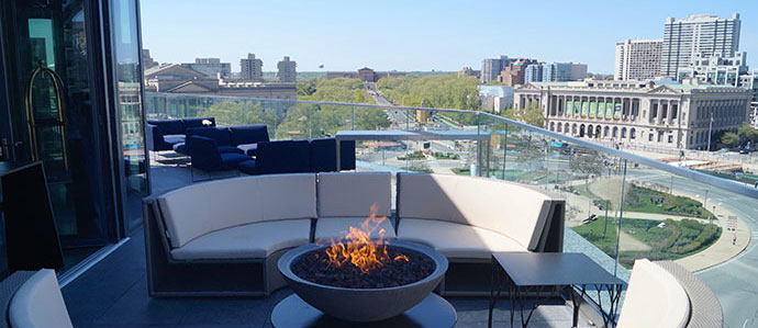 The Logan Hotel Opens Assembly Rooftop Bar With Incredible Views of the Parkway