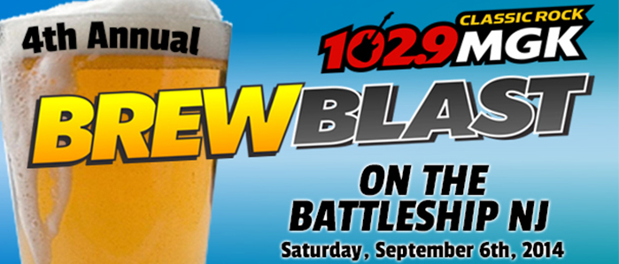 The 4th Annual WMGK 102.9 Brew Blast Returns to the Battleship New Jersey, Sept 6
