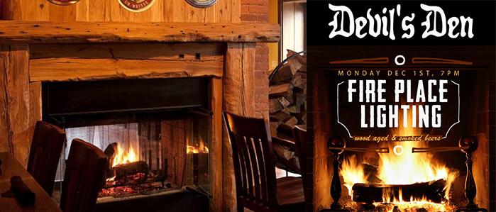 Devil's Den Hosts 6th Annual Fire Place Lighting Party, Dec 1