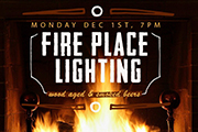 Devil's Den Hosts 6th Annual Fire Place Lighting Party, Dec 1