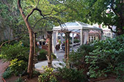 Discover the Secret Oasis That Is the M Restaurant's Outdoor Bar at the Morris House Hotel