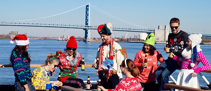 Join Us For the Drink Philly Ugly Sweater Holiday Boat Party, December 22