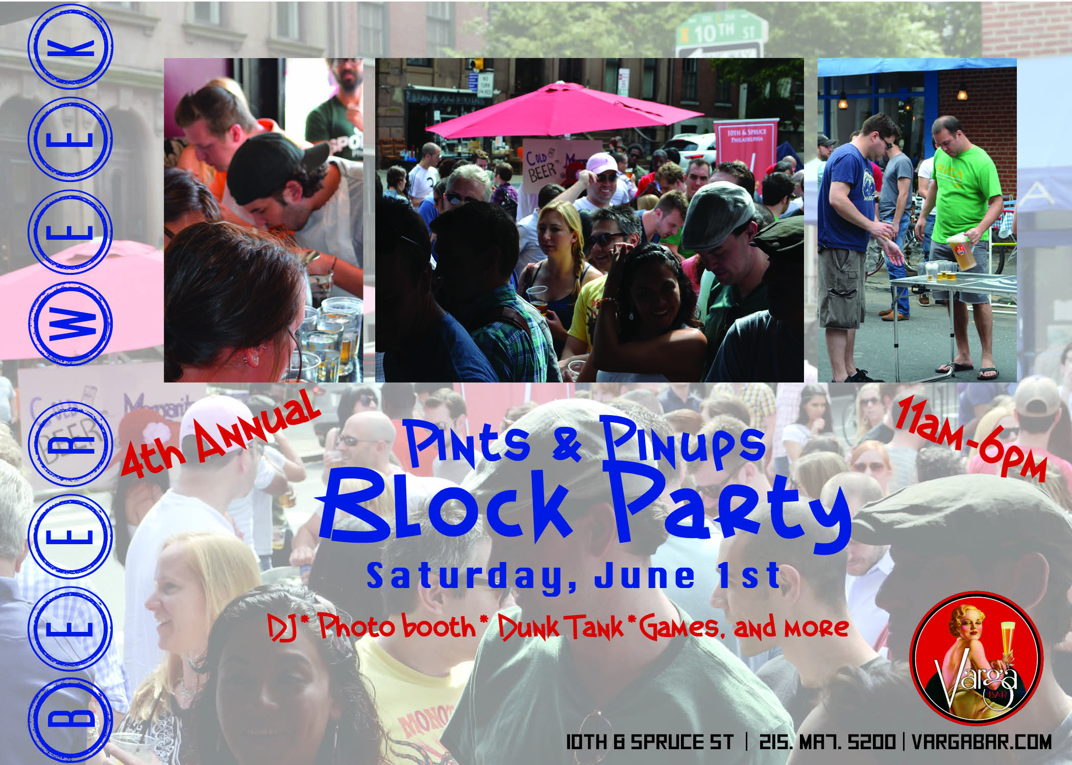 4th Annual Pin Up Block Party and BBQ with Varga Bar
