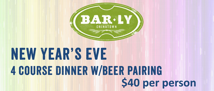 New Year's Eve Craft Beer Dinner at BarLy