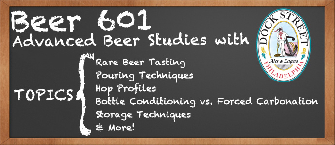 Beer 601: Advanced Beer Studies with Dock Street Brewing