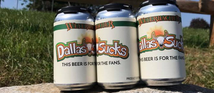 Cheers to Your Hatred of the Dallas Cowboys with this New Beer from Weyerbacher