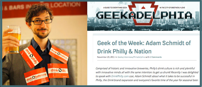Geek of the Week: Adam Schmidt of Drink Philly | Nation
