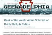 Geek of the Week: Adam Schmidt of Drink Philly | Nation