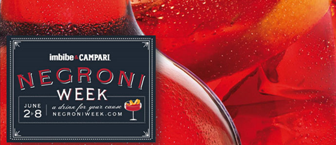 Raise a Glass to a Good Cause During Negroni Week, June 2-8
