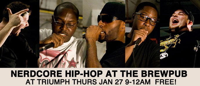 Nerdcore Hip-hop at Triumph Brewing Co. Thurs 1/27