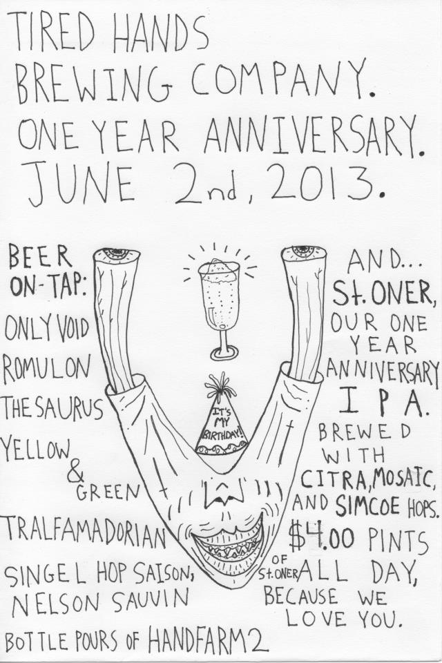 Tired Hands Brewing Company One Year Anniversary